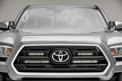 2018-2019 Toyota Tacoma OEM Grille LED Kit, Incl. (2) 6 Inch and (2) 10 Inch LED Straight Single Row Slim Light Bars - PN #Z419711-KIT - Image 2