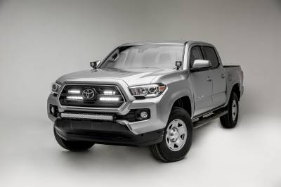 2018-2019 Toyota Tacoma OEM Grille LED Kit, Incl. (2) 6 Inch and (2) 10 Inch LED Straight Single Row Slim Light Bars - PN #Z419711-KIT - Image 4