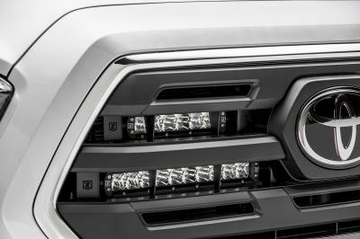 2018-2019 Toyota Tacoma OEM Grille LED Kit, Incl. (2) 6 Inch and (2) 10 Inch LED Straight Single Row Slim Light Bars - PN #Z419711-KIT - Image 6