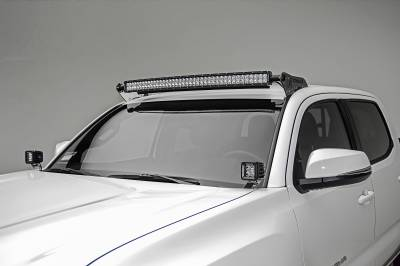 ZROADZ                                             - 2016-2020 Toyota Tacoma Hood Hinge LED Bracket to mount (2) 3 Inch LED Pod Lights - PN #Z369401 - Image 1