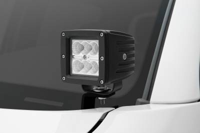 ZROADZ                                             - 2005-2015 Toyota Tacoma Hood Hinge LED Bracket to mount (2) 3 Inch LED Pod Lights - PN #Z369381 - Image 1