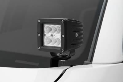 ZROADZ                                             - 2005-2015 Toyota Tacoma Hood Hinge LED Kit, Incl. (2) 3 Inch LED Pod Lights - PN #Z369381-KIT2 - Image 1