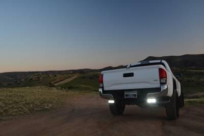 2016-2019 Toyota Tacoma Rear Bumper LED Bracket to mount (2) 6 Inch Straight Light Bar - PN #Z389401 - Image 2
