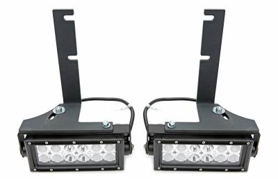 2005-2014 Toyota Tacoma Rear Bumper LED Kit, Incl. (2) 6 Inch LED Straight Double Row Light Bars - PN #Z389411-KIT - Image 6