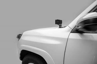 2014-2019 Toyota 4Runner Hood Hinge LED Bracket to mount (2) 3 Inch LED Pod Lights - PN #Z369491 - Image 5