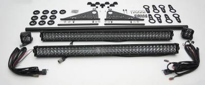 ZROADZ                                             - Universal Modular Rack LED Kit with (2) 30 Inch LED Straight Double Row Light Bars, (2) 3 Inch LED Pod Lights - PN #Z350040-KIT-A - Image 2
