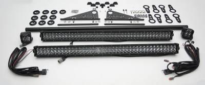 Universal Modular Rack LED Kit, Incl. (2) 30 Inch LED Straight Double Row Light Bars, (2) 3 Inch LED Pod Lights - PN #Z350040-KIT-A - Image 2
