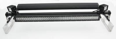 Universal Modular Rack LED Kit, Incl. (2) 30 Inch LED Straight Double Row Light Bars, (2) 3 Inch LED Pod Lights - PN #Z350040-KIT-A - Image 3