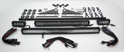 ZROADZ                                             - Universal Modular Rack LED Kit with (1) 30 Inch (1) 20 Inch, (2) 6 Inch LED Straight Double Row Light Bars - PN #Z350040-KIT-B - Image 3
