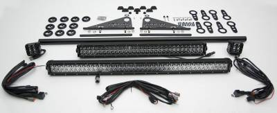ZROADZ                                             - Modular Rack LED Kit with (1) 40 Inch (1) 30 Inch Straight Double Row Light Bars, (2) 3 Inch LED Pod Lights - PN #Z350050-KIT-E - Image 6