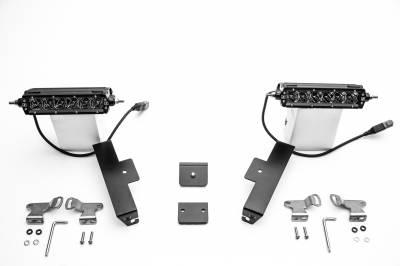 ZROADZ                                             - Universal Panel Clamp LED Kit, Incl. (2) 6 Inch LED Straight Single Row Slim Light Bars - PN #Z310006-KIT - Image 2