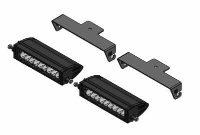 ZROADZ                                             - Universal Panel Clamp LED Kit, Incl. (2) 6 Inch LED Straight Single Row Slim Light Bars - PN #Z310006-KIT - Image 4