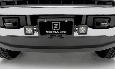 Universal License Plate Frame LED Bracket to mount (2) 3 Inch LED Pod Lights - PN #Z310005 - Image 4