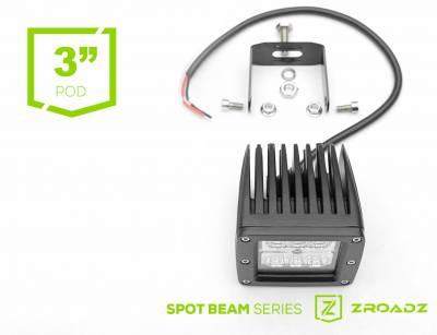 (1) 3 Inch LED Flood Beam Pod Lights - PN #Z30BC14W20 - Image 4