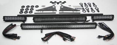 Modular Rack LED Kit, Incl. (1) 40 Inch (1) 30 Inch, (2) 12 Inch LED Straight Double Row Light Bars - PN #Z350050-KIT-D - Image 3