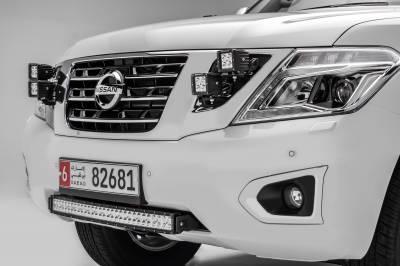 ZROADZ                                             - 2010-2017 Nissan Patrol Y62 OEM Grille LED Kit with (4) 3 Inch LED Pod Lights - PN #Z417871-KIT4 - Image 1