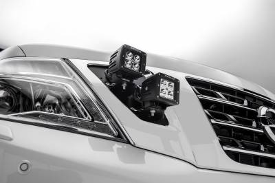 ZROADZ                                             - 2010-2017 Nissan Patrol Y62 OEM Grille LED Kit with (4) 3 Inch LED Pod Lights - PN #Z417871-KIT4 - Image 3
