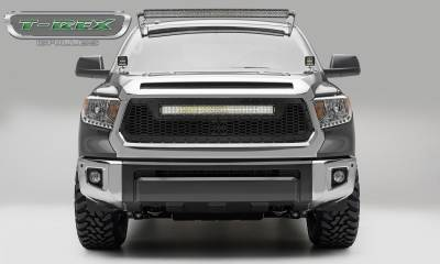 """T-REX GRILLES - 2014-2017 Tundra Stealth Laser Torch Grille, Black, 1 Pc, Replacement, Black Studs with (1) 30"""" LED - PN #7319641-BR - Image 1"""