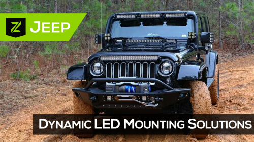 Jeep JK LED Mounting Brackets and Kits