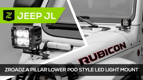 Jeep JL Wrangler A Pillar LED Mounting Kit