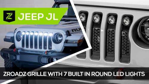 Jeep Wrangler JL ZROADZ Series LED Grille
