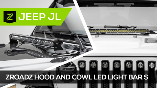 Jeep Wrangler JL Hood Mounted LED Light Bar Brackets and Kits