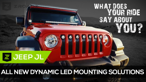 Jeep Wrangler JL Bolt-On LED Mounting Solutions from ZROADZ