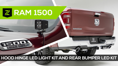 Ram 1500 Hood Hinge and Rear Bumper LED Light Mounts