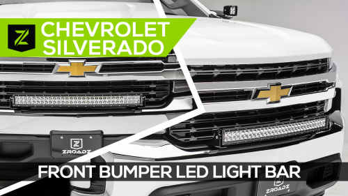 Chevrolet Silverado Front Bumper LED Light Bar Kit
