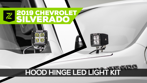 Chevrolet Silverado 1500 Hood Hinge LED Mounting Kit