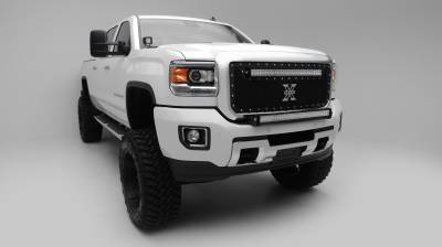 2015-2019 Silverado, Sierra HD Front Bumper Top LED Kit  Incl. (1) 30 Inch LED Straight Double Row Light Bar - PN #Z321221-KIT - Image 5