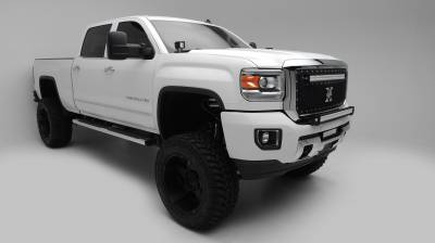 2015-2019 Silverado, Sierra HD Front Bumper Top LED Kit  Incl. (1) 30 Inch LED Straight Double Row Light Bar - PN #Z321221-KIT - Image 6