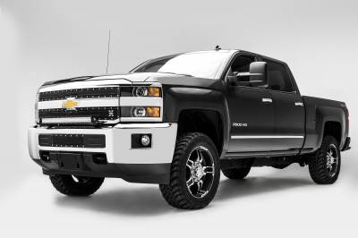 2015-2019 Silverado, Sierra HD Front Bumper Top LED Kit  Incl. (1) 30 Inch LED Straight Double Row Light Bar - PN #Z321221-KIT - Image 2