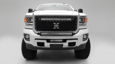 2015-2019 Silverado, Sierra HD Front Bumper Top LED Kit  Incl. (1) 30 Inch LED Straight Double Row Light Bar - PN #Z321221-KIT - Image 7