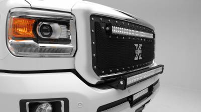 2015-2019 Silverado, Sierra HD Front Bumper Top LED Kit  Incl. (1) 30 Inch LED Straight Double Row Light Bar - PN #Z321221-KIT - Image 4