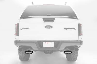 ZROADZ                                             - Ford Rear Bumper LED Kit, Incl. (2) 6 Inch LED Straight Single Row Slim Light Bars - PN #Z385662-KIT - Image 1
