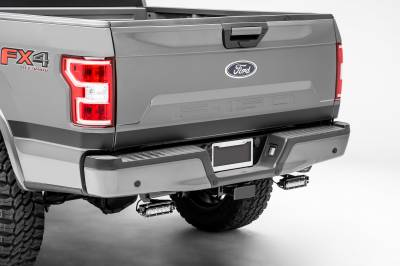 ZROADZ                                             - Ford F-150, Raptor Rear Bumper LED Kit with (2) 6 Inch LED Straight Single Row Slim Light Bars - PN #Z385662-KIT - Image 1