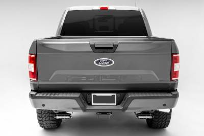 ZROADZ                                             - Ford Rear Bumper LED Kit, Incl. (2) 6 Inch LED Straight Single Row Slim Light Bars - PN #Z385662-KIT - Image 2