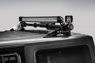 ZROADZ                                             - Jeep JK, JL Modular Rack LED Kit, Incl. (1) 40 Inch (1) 20 Inch Straight Double Row Light Bars, (2) 3 Inch LED Pod Lights - PN #Z350050-JK-KIT-B - Image 14