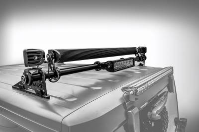 ZROADZ                                             - Jeep JK, JL Modular Rack LED Kit, Incl. (1) 40 Inch (1) 20 Inch Straight Double Row Light Bars, (2) 3 Inch LED Pod Lights - PN #Z350050-JK-KIT-B - Image 2