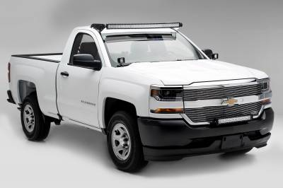 ZROADZ                                             - Silverado, Sierra Front Roof LED Kit, Incl. 50 Inch LED Curved Double Row Light Bar - PN #Z332081-KIT-C - Image 3