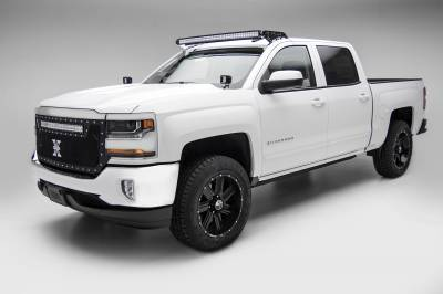 ZROADZ                                             - Silverado, Sierra Front Roof LED Kit, Incl. 50 Inch LED Curved Double Row Light Bar - PN #Z332081-KIT-C - Image 1