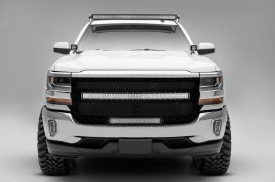 ZROADZ                                             - Silverado, Sierra Front Roof LED Kit, Incl. 50 Inch LED Curved Double Row Light Bar - PN #Z332081-KIT-C - Image 5