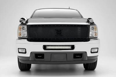2011-2013 Chevrolet Silverado 2500, 3500 Front Bumper Center LED Kit, Incl. (1) 20 Inch LED Straight Double Row Light Bar - PN #Z321151-KIT - Image 1