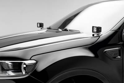ZROADZ                                             - 2019-2021 Ford Ranger Hood Hinge LED Bracket to mount (2) 3 Inch LED Pod Lights - PN #Z365821 - Image 1