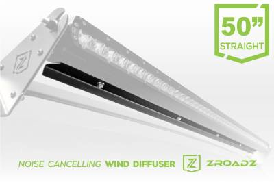 ZROADZ                                             - Noise Cancelling Wind Diffuser for 50 Inch Straight Single Row LED Light Bar - PN #Z330051S - Image 1