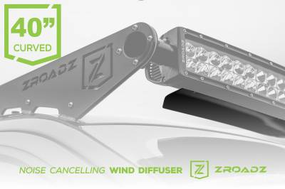 ZROADZ                                             - Noise Cancelling Wind Diffuser for 40 Inch Curved LED Light Bar - PN #Z330040C - Image 1