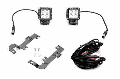 ZROADZ                                             - 2019-2020 Chevrolet Silverado 1500 Hood Hinge LED Kit  Incl. (2) 3 Inch LED Pod Lights - PN #Z362181-KIT2 - Image 9