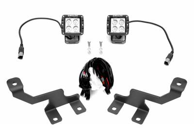ZROADZ                                             - Ford Hood Hinge LED Kit with (2) 3 Inch LED Pod Lights - PN #Z365601-KIT2 - Image 2