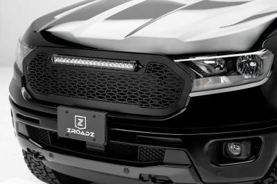 "T-REX GRILLES - 2019-2020 Ford Ranger ZROADZ Grille 1 Pc Replacement Incl. (1) 20"" LED - PN #Z315821 - Image 1"